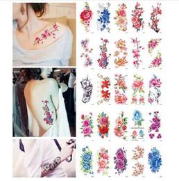 Ingrosso autoadesivi del tatuaggio della spalla del braccio dei fiori artificiali della rosa autoadesivo istantaneo dei tatuaggi del tatuaggio del hennè istantaneo delle donne sul corpo