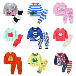 Cartoon sleep girl online shopping - Sleeping suits Kids Cartoon Clothes Sets Baby Boys Girls nightclothes Long Sleeve Cotton Childrens Sleepwear Pajamas P114