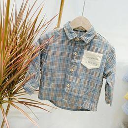 $enCountryForm.capitalKeyWord Australia - Kids Designer Clothes Baby Boy Toddler Children Fashion Chothing Shirts Made With Cotton High Quality Tee Shirt Plaid Shirt