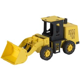 Diy Education Toys UK - cartoon education diy kids paper construction vehicles forklift toy mini custom 3d puzzle maker shop retail wholesale retail