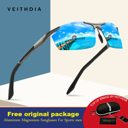 $enCountryForm.capitalKeyWord Australia - VEITHDIA New Design Aluminum Magnesium Sunglasses Polarized Men Semi rimless Coating Mirror Sun Glasses Male Eyewear