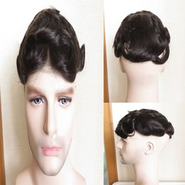 Best Men Hair Australia - Best selling 100% quality African men's wigs, tailored for men, black hair shiny, thin and breathable, comfortable wear.TKWIG