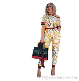 $enCountryForm.capitalKeyWord NZ - Womens Two Piece Clothing Set Summer Nice New Short Sleeve Print Top And Pants Set Large Size Casual Twin Sets Womens Sets