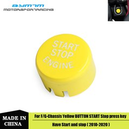 engine start Australia - Yellow Engine Start Stop button Cover With start stop function For BMW F G-Chassis X1234567 Series