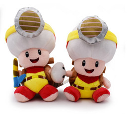 """$enCountryForm.capitalKeyWord NZ - Hot New 2 Styles 8""""-8.2"""" 20CM-20CM Super Mario Bros Sitting Standing Toad With Backpack Plush Doll Anime Stuffed Dolls Best Gifts Soft Toys"""