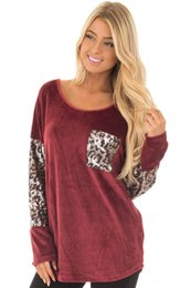 $enCountryForm.capitalKeyWord Australia - Autumn New Sexy Leopard Long T Long Sleeves O-neck Pullover Women Patchwork & Printed T Shirt Women Top Clothes