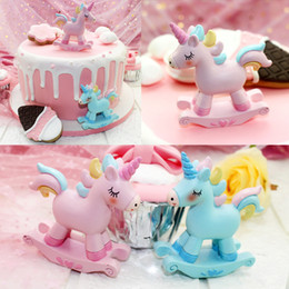 baby shower cakes cupcakes Canada - New Unicorn Cake Topper Little Horses Decorations Baby Shower Kids Favors Unicorn Birthday Cupcake Toppers Decoration
