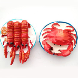 $enCountryForm.capitalKeyWord UK - Lychee Life Lobster Hairy Crab Fridge Magnet Creative Funny Magnets Souvenir Modern Home Kitchen Decor