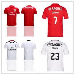 9dc175bd183 OK Benfica soccer jerseys Europa League HOME AWAY 2019 JOAO FELIX RAFA  Pizzi Salvio SEFEROVIC JONAS Raul Jimenez GRIMALDO FOOTBALL SHIRTS