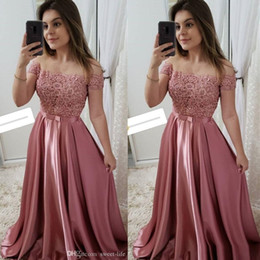 $enCountryForm.capitalKeyWord NZ - Desginer Off Shoulder Prom Dresses Pleated High End Quality Party Dress With Short Sleeves Hot Sales