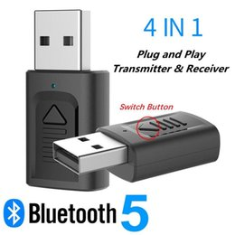 Usb wireless adapter tv online shopping - Bluetooth Audio Transmitter Receiver in1 Usb Bluetooth AUX TV PC Transmitter Music Audio Receiver Car Kit Wireless Adapter