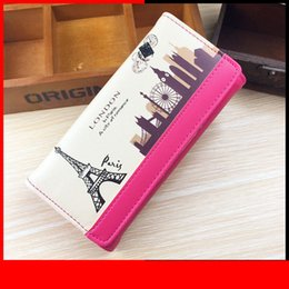 Ladies Wallet Patterns Australia - Fashion Women Wallets Tower Pattern Long Clutch Lady Handbags Coin Purse Moneybag Cards Holder Pu Leather Woman Wallet Burse Bag