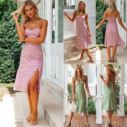 Wholesale womens sundresses for sale – plus size Womens Summer Boho Long Dress Evening Cocktail Party Beach Dresses Sundress