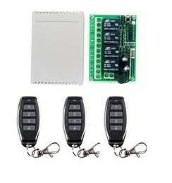 wireless rf transmitter receiver remote Australia - 433mhz 12 V 12V 4CH RF Wireless Remote Control Switch System Receiver Transmitters For Appliances Gate Garage Door window  lamp