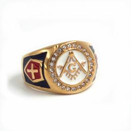 $enCountryForm.capitalKeyWord Australia - size 7 to 15 stainless steel gold master masonic ring,free mason signet rings for men gold freemason ring with white red enamel