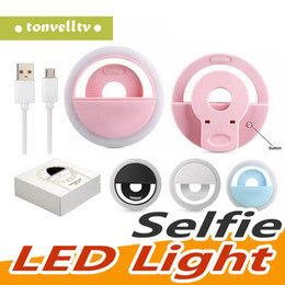 portable flashes UK - New Arrive USB Charge Selfie Portable Flash Led Camera Phone Photography Ring Light Enhancing Photography for iPhone Smartphone