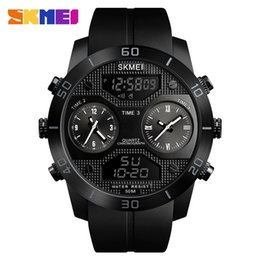 Wholesale SKMEI Sport Outdoor Men Watch Meters Waterproof Luminous Electronic Stainless Steel time Display Watch Relogio Masculino