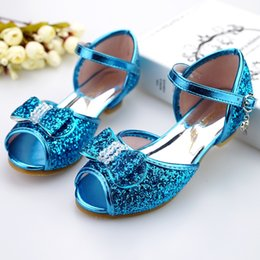 sandal kids brand 2019 - Children's High heel Sandals Brand Princess dress Shoes Girls Butterflies Glitter single Shoes Baby Girls Kids 502-