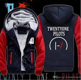 twenty one pilots hoodies NZ - Mens Designer Hoodies Twenty One Pilots Printed Wool Liner Winter Clothes Racker Mens Casual Zipper Hoodies