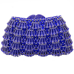 $enCountryForm.capitalKeyWord UK - Blue Silver Crystal Evening Clutch Bags For Women 2019 New Arrival Handbag Hollow Out Fashion Ladies Party Clutches Dinner Purse