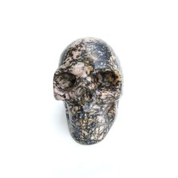 $enCountryForm.capitalKeyWord UK - Customized Wholesale Natural Precious Stone Red And Black Rhodonite Polished Crystal Skulls For Sale for home healing decoration