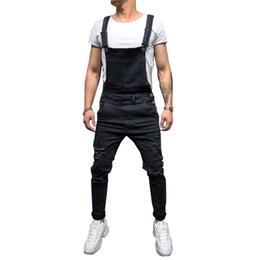 $enCountryForm.capitalKeyWord Australia - Fashion Men's Ripped Jeans Jumpsuits Hi Street Distressed Denim Bib Overalls For Man Suspender Pants Size S-XXXL