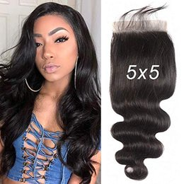 $enCountryForm.capitalKeyWord Australia - 5x5 SexyQueen body Wave Lace Closure 100% Human Hair Brazilian Virgin Hair Free Part Closure With Baby Hair Natural Color