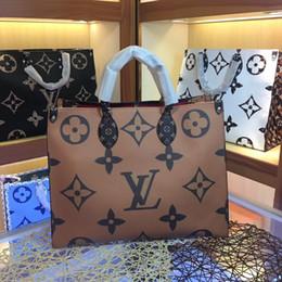 $enCountryForm.capitalKeyWord Canada - Sale 2019 new style M44576 ONTHEGO fashion women's luxury leather handbag Color mixing Designer shoulder bag Ladies Totes Bag Free shipping