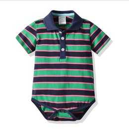 China A New Kind of Baby Leisure Hat-shirt with Short Sleeves and Connected Hat-shirt and Pure Cotton Stripe Climbing Suit 70-100cm cheap hat kinds suppliers