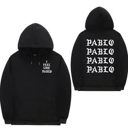 $enCountryForm.capitalKeyWord NZ - I Feel Like Paul Pablo Kanye West Sweat Homme Hoodies Men Sweatshirt Hoodies Hip Hop Streetwear Hoody Pablo Hoodie MX190803