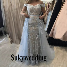 red carpet dress sales dubai Australia - New Dubai Long Evening Dresses Prom Dress Mermaid Women Formal Gowns 2 Pieces Pageant Party Dresses Custom Made Robe De Soiree Hot Sale