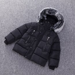 Wholesale Baby Boys Jacket Autumn Winter Kids Warm Thick Hooded Coat Children Outerwear Toddler Girl Boy Clothing