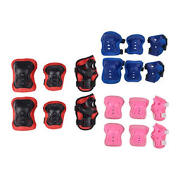 Knee Skateboard Australia - Hot Selling Kids Protect Sets 6PCS Children Skateboard Roller Skating Knee Elbow Wrist Protective Pad Kit