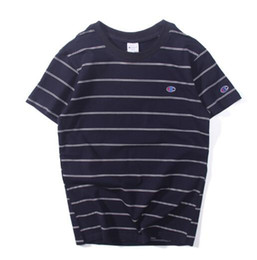 $enCountryForm.capitalKeyWord UK - Top quality Unisex brand embroidery Champ C bb gc classical Stripe men t-shirt cotton kanye west short sleeve casual T shirts Tee