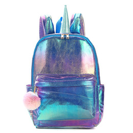 $enCountryForm.capitalKeyWord Australia - Unicorn Girls Backpacks Fashion Cartoon Kids Backpacks glisten Girls School Bags sequin Childrens Bags kids Satchel Bag Weekend Bag A6555