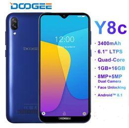Smartphone Arabic Australia - DOOGEE Y8c Android 8.1 6.1inch 19:9 Waterdrop LTPS Screen Smartphone MTK6580 1GB RAM 16GB ROM 3400mAh Dual SIM 8MP+5MP WCDMA