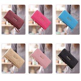 Discount popular notes - Women's Wallet Double Zipper Phone Bag Long Coin Purse Bag Phone Case Student Girls Popular