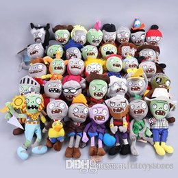Plants Vs Zombie Figures Australia - style 25CM Plants Vs Zombies Soft Plush Toy Doll Game Figure Statue Baby Toy for Children Gifts