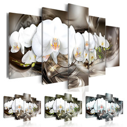 $enCountryForm.capitalKeyWord NZ - ( No Frame ) Abstract Flower Canvas Art Print Modern Orchid Floral Wall Painting Home Decoration Gift for Love, Choose Color & Size