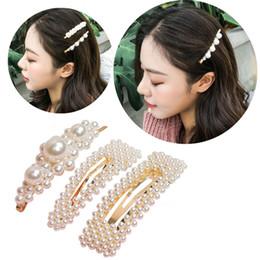 $enCountryForm.capitalKeyWord Australia - Fashion Woman Pearl Hairpin Beautiful Hair Clip Girl Temperament Barrettes Sweet Korean Style Bangs Clip Lady Party Hair Accessories M047F