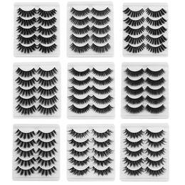 $enCountryForm.capitalKeyWord Australia - 2019 Hot 5 Pairs 5D Mink Hair False Eyelashes Wispy Cross Fluffy Lashes Soft Eyelash Extension Handmade Eye Beauty Makeup Tools