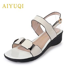 $enCountryForm.capitalKeyWord Canada - AIYUQI 2018 new big size 41#42#43# women's sandals Sweet fashion flat comfortable student sandals ladies red Brands shoes women