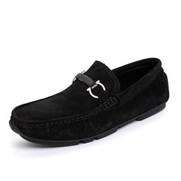 $enCountryForm.capitalKeyWord UK - Mens Loafers Slip Shoes Casual Men Suede Leather Boat Shoes Car Driving Shoes Men's Loafer Man Moccasins Male Flats Black Free Shipping