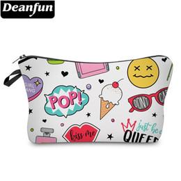 $enCountryForm.capitalKeyWord Australia - Deanfun Heart Cosmetic Bag Waterproof Printing Trendy Vacation Makeup Case Custom Color Makeup Brush Bags 51472