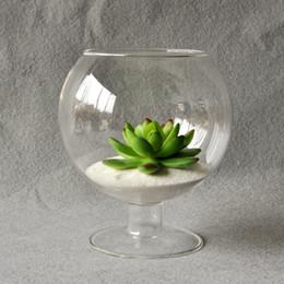 $enCountryForm.capitalKeyWord Australia - Clear Glass Vase Glass Terrarium Cup Shaped Creative Garden Decoration Ornament Home Deco Table Flower Vase