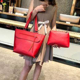 Best Sale Handbags Australia - Women Tassel Handbag Pu Leather Shoulder Bag 2pcs Messenger Bags Casual Tote Bags Set Best Sale good quality