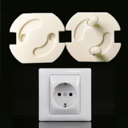 5pcs EU Power Socket Electrical Outlet Baby Kids Child Safety Guard Protection Anti Electric Plugs Protector Rotate Cover on Sale