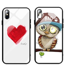 Discount cute iphone bumper cases - Tempered Glass Cases Luxury Original Cute Glass Back Cover For iPhone 6 6s 7 8 Plus Xs Max Xr Bumpers