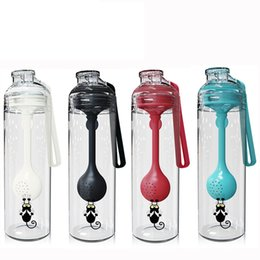 $enCountryForm.capitalKeyWord Australia - 4styles Tea Water spoons Separation Cup Water Bottles With Spoon Multi Function Plastic Milkshake Mixing Portable Sport outdoor cup FFA2633