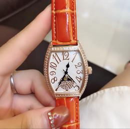 $enCountryForm.capitalKeyWord Australia - Orange BELT diamond BEZEL All work High quality CHINA GD QUARTZ sport 32MMx43MM CASE women watch new Stainless steel womens watches